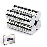 Piccoli Magneti per Frigorifero, Forte Magnete al Neodimio Multiuso Catamite Piccole per Frigo, Scienza, Artigianato, Mappe, Decorazioni (8x3mm - 50 Pezzi)