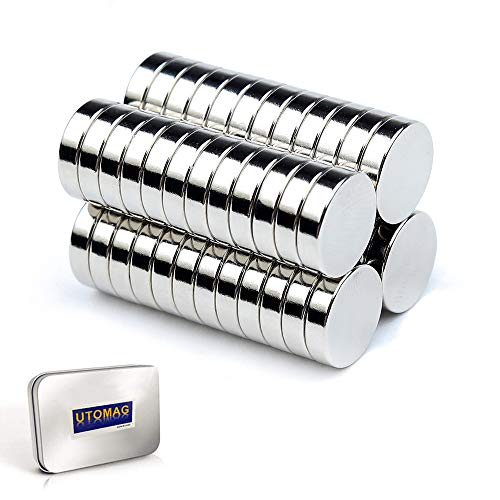 超強力 小型 多用途 丸形マグネット 磁石 小型丸ディスク磁石 冷蔵庫、事務所、科学、工芸に最適 (8x3mm-50個)