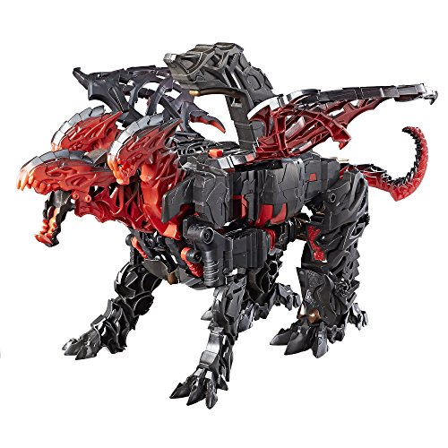 Figura Transformers Movie 5 Turbo Changer Dragonstorm Transformers Preto/vermelho
