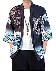 Japanse stijl Cat Samurai Kimono Streetwear Mannen Vrouwen Vest Japan Harajuku Anime Robe Anime Kleding Summer