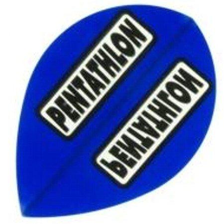 Pentathlon Dart Flights Pear, 1 Satz = 3 Stückt, Farbe: Blau