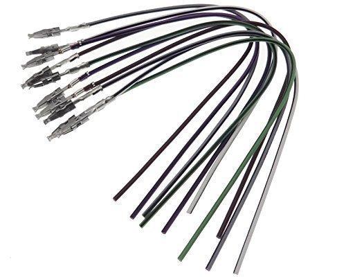 10x Micro Timer Pins mini ISO Stecker Kontakte + Kabel female PIN KFZ Auto PKW