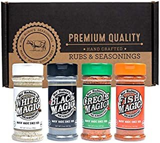 Mis Rubins Magic Seasoning Variety Pack - Black Magic, White Magic, Creole Magic, Fish Seasoning | Gourmet Spices Gift Set...