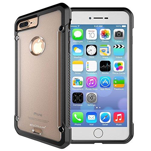 TECHGEAR iPhone 8 Plus iPhone 7 Plus Hülle - [Fusion Armor] Schlanker Hybrid, Stoßfänger-Hülle, Stoßfest, TPU-Schutzhülle Kompatibel mit Apple iPhone 8 Plus und iPhone 7 Plus Hülle (Frost/Schwarz)