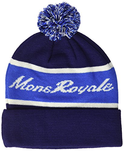 Mons Royale Club Pom Beanie Accessories Taille Unique Navy/Bay Blue/White