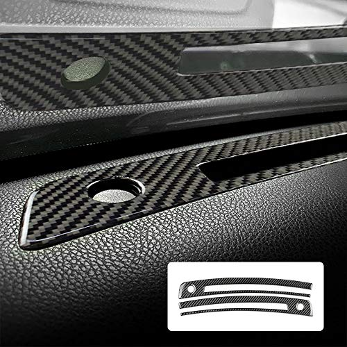 AIRSPEED Carbon Fiber Car Front Air Conditioning Outlet Vent Cover Interior Trim Sticker for Subaru BRZ Toyota 86 2013-2020 Accessories (Black)