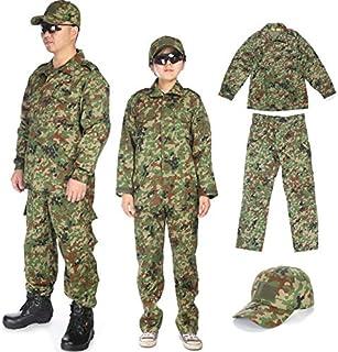 Broptical ベルト付 BDU 自衛隊 戦闘服 迷彩服 上下 野球帽 セット S/M/L/XL 自衛隊タイプ サバゲー 装備 コスプレ 服装 サバイバルゲーム (M)