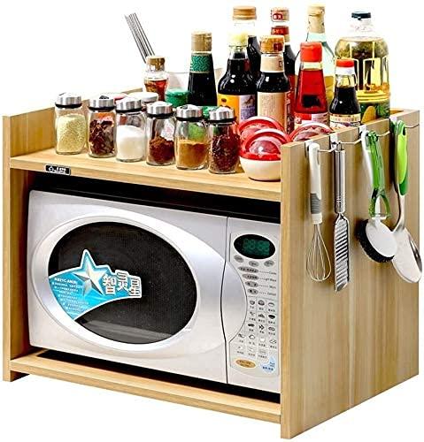 COLiJOL Estante para Horno Microondas en el Piso Estante para el Hogar Estante para Alenamiento de Cocina Soporte para Olla de Especias (Color: C, Tamaño: 54 * 40 * 45Cm),a,Los 54 * 40 * 45Cm