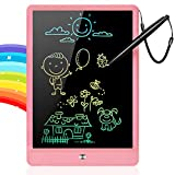 GRINETH LCD Writing Tablet,10 inch Colorful Doodle Board,Erasable Doodle Pad,Educational Gifts Toys for Boys and Girls(Pink)