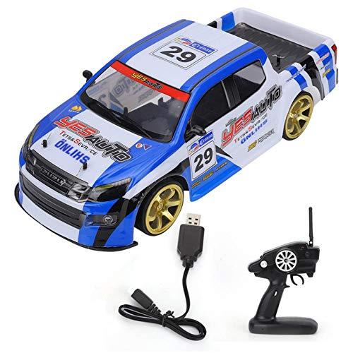 JYLSYMJa Vehículo todoterreno modelo grande 1:10, vehículo de cuatro ruedas de modo dual con control remoto 2.4G, juguete eléctrico de carreras, para deportes de campo (camuflaje negro azul 2)
