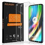 POVINMOS para Motorola Moto G9 Plus Cristal Templado Protector de Pantalla, 9H Dureza [2.5D, 0.3mm] [Anti Arañazos] [Alta Definicion] [Sin Burbujas] Screen Protector [3 Pack]