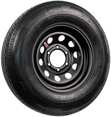 2-Pack Trailer Tire and Rim ST225/75R15 LRD 15X6 6-5.5 Black Modular Wheel