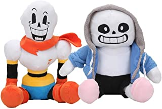LevinArt 2pcs Anime Undertale Plush Toys Undertale Sans Papyrus Asriel Toriel Stuffed Plush Toys Doll for Kids Children Gift