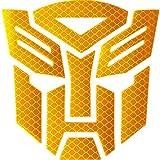Reflective Light Transformers Autobot - Car,Motorcycle,Car Window, Truck, Notebook, Vinyl Decal Sticker,Autobot car Accessories,Vehicle Decorative Stickers (Golden Yellow)