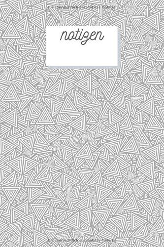 Notizen: Geometrisches Muster Design Heft Blanko für Notizen Lettering Handschrift   Kreatives Geschenk für Kinder und Erwachsene   Frauen Männer ... Buch für Jedermann) (German Edition)