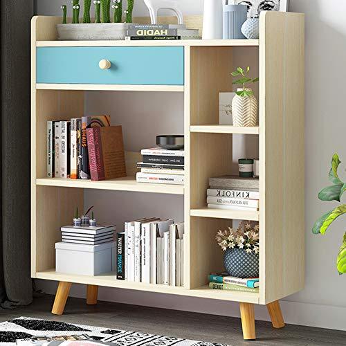 Librero Estantes 3-Tier madera-mirada Estantería Estante de almacenamiento, fácil Asamblea Biblioteca for sala de estar, estrecho, dormitorio, oficina Estantería Librería ( Color : A-Natural )