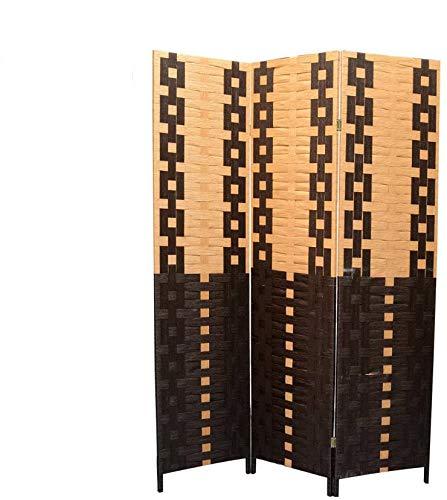 clasificación y comparación Pared divisoria, bambú natural, papel tejido negro / natural 180 x 135 cm – casa… para casa