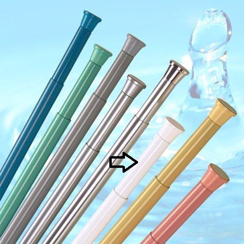 KS Handel 24 ALU TELESKOPSTANGE Mini 45-65 cm Weiss DUSCHVORHANGTANGE KLEMMSTANGE ** EXTRA KURZ ** JETZT GANZ NEU ** 45-65 cm Spring Shower Rod!