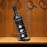 DC Wesley Creativo Decoración del Gabinete del Vino Vino Estante del Estante De La Sala De Estar En Casa Retro De Hierro Decorativos Adornos