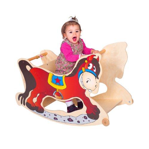 TRIHORSE ® Baby Kinderhochstuhl 3 in 1 Hochstuhl, Schaukelpferd, Spieltisch - 3