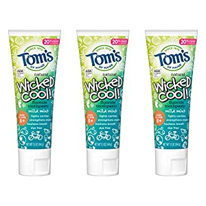WHAT YOU'LL GET: Three 5.1-ounce tubes of Tom's of Maine kids natural toothpaste with fluoride in Mild Mint Flavor ADA APPROVED: Contains fluoride to protect teeth from cavities and strengthen enamel TASTE THEY LOVE: This toothpaste for kids has a mi...