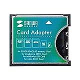 サンワサプライ SDXC用CF変換アダプタ ADR-SDCF1N