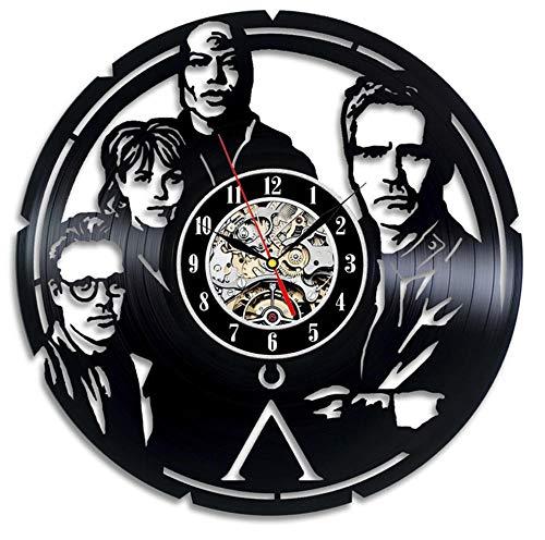 Yang Jingkai Runde Hohle CD Rekord Wanduhr Stargate Vinyl LED Wanduhr Antik Vinyl Rekord Uhr Home Decor-NO_LED
