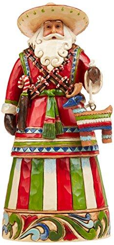 "Enesco Jim Shore Heartwood Creek Mexican Santa Stone Resin Figurine, 7.25"", 7 1/4', Multicolor"