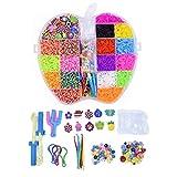 5000 Bandas de Telar de Colores, Set, Banda de Goma Pulsera Recarga para la fabricación de Pulsera, Pulsera de Banda de Goma DIY, Regalo de niñas para Mejorar la imaginación