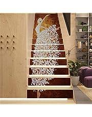 Trap Stickers Schillen en Stok Backsplash Zelfklevend PVC Materiaal DIY Zelfklevende Decal Verwijderbare Muurschildering voor Home Trap Decor 1 Set 13 stuks