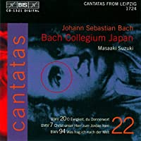 Bach: Cantatas, Vol 22 (BWV 20, 7, 94) /Bach Collegium Japan ・ Suzuki by Bach Collegium Japan (2003-09-04)