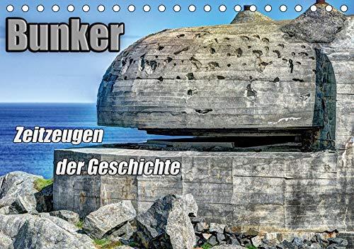 Bunker Zeitzeugen der Geschichte (Tischkalender 2020 DIN A5 quer): Bunker - Monumente aus Stahl und...
