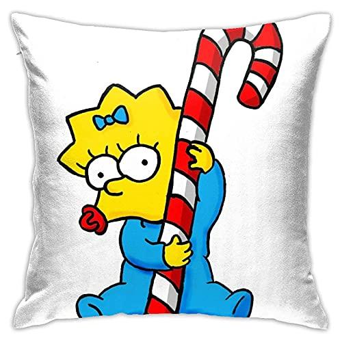 Sister Holding Christmas Candy - Funda de almohada para sofá, oficina, simple y suave, 45 x 45 cm