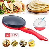 """Portable Electric Crepe Maker,8"""" Fry Egg Pancake Pot Non-stick Crepe Pans Electric Crepe Pan Pancakes Machine for Crepes,Pancakes, Tortillas,Household Kitchen Cooking Tools 1Pack"""