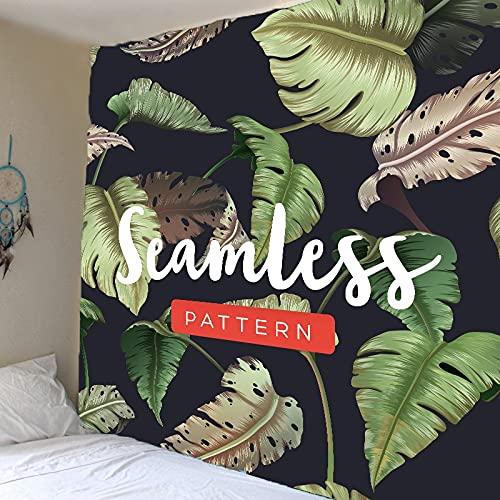 Tapiz de planta verde hoja de palmera tropical colgante de pared tapiz de flor grande arte tela de pared tapiz tela de fondo A3 180x200cm