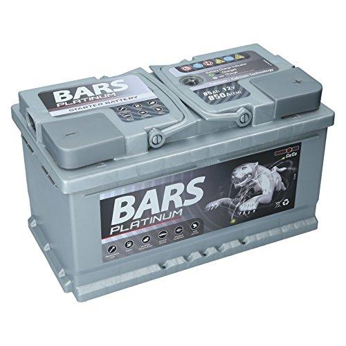 Autobatterie 12V 85Ah 850A Bars Platinum Starterbatterie Wartungsfrei