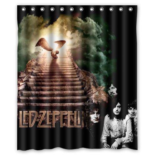 LIBIN Custom Rock Band Led Zeppelin Waterproof Polyester Fabric Bathroom Shower Curtain Standard Size