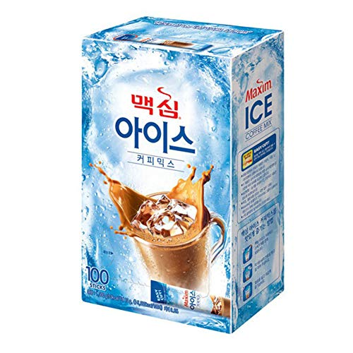 100T Korea Iced Coffee Mix Maxim That Is Easy To Instant Drink With Cold Water
