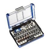 kwb Bit-Box – 32-tlg. schlagfeste Bits, Edelstahl-Bits, Torsion-Bits und Standard-Bits inkl. Schnellwechsel-Bithalter mit Magnet und Adapter