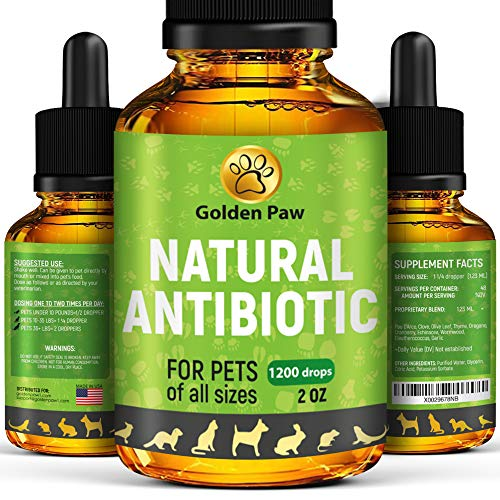Natural Antibiotíс for Dogs - Immune System Booster for Dogs - Kennel Cough Remedy for Pets - UTI Treatment - Allergy Immune Supplement for Pets - Antibiotícs Alternative for Cats