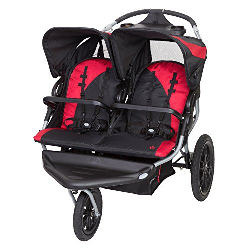 Baby Trend Navigator Lite Double Jogger Stroller, Candy Apple