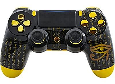 """""""ALL-SEEING EYE"""" PS4 PRO Rapid Fire Custom Modded Controller 40 Mods for All Major Shooter Games, Quick Scope Sniper Breath & More (CUH-ZCT2U)"""