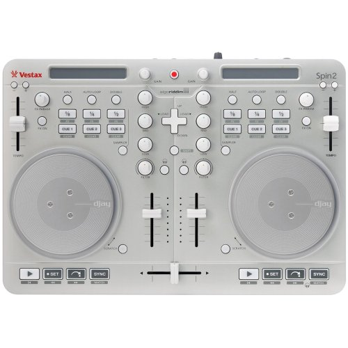 Vestax Spin 2 MIDI Controller weiss