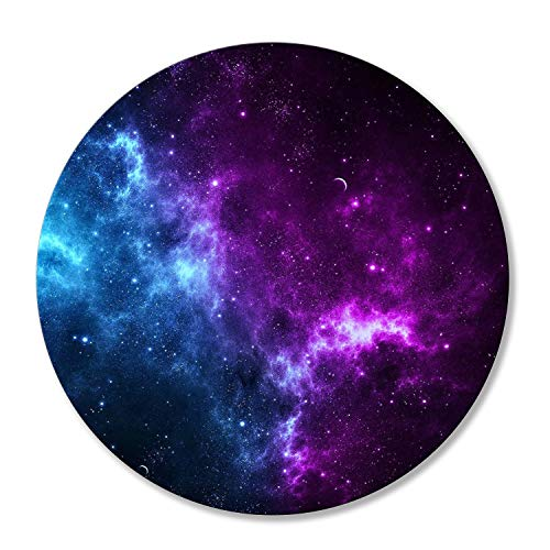 Shalysong Mouse pad Customized Round Mousepad Non-Slip Rubber Base Mouse Pads for Computers Laptop Office Desk Accessories Nebula Galaxy Mouse pad