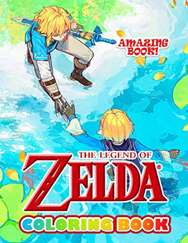 Amazing Book - The Legend of Zelda Coloring Book: A Flawless Coloring Book For Adults With A Lot Of Hand-Drawn Designs Of The Legend Of Zelda To Relax And Relieve Stress