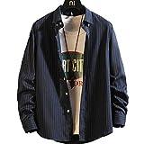BOXUAN シャツ メンズ 長袖 カジュアル ビジネス 大きい サイズ 無地 シャツ