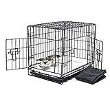 WilTec Transportín Plegable Animales XS 61x42x48.5cm Set Completo Viaje Perros Gatos Capazo Cama Acolchada