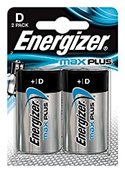 Very high performance Long service life Environmentally friendly Gives the performance over a shelf life of up to 10years Energizer D Size Max Plus Alkaline Battery - Pack of 2