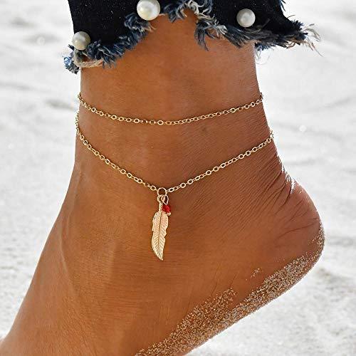 JEFEYI Fußkette 2020 New Gold Pailletten Kleid Frauen Strand Füße Schmuck Vintage Statement Knöchel Boho Style Party Summer-50182