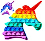 Fidget Toy Juguete Antiestres Pop It Sensorial para Niños y Adultos Bubble Push Juguetes Antiestrés de Explotar Burbujas para Aliviar estrés y Ansiedad Unicornio Multicolor